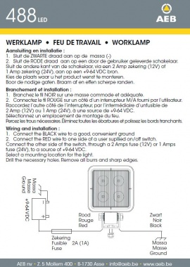 Operating instructions 488 LED
