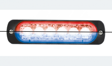 LED flasher<br>Flasher | LED | 6 LEDs | 12‑24V | red/blue
