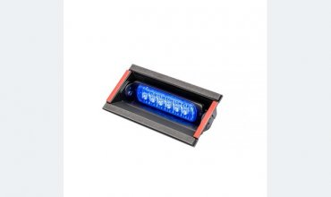 LED flasher<br>Flasher | windscreen | LED | 6 LEDs | 12‑24V | blue ‑ removable